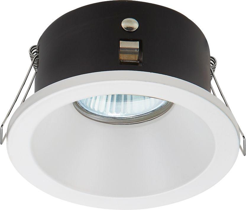Candellux SH-11 2250830 oprawa od wbudowania stropowa biała WH MR16 oczko sufitowe hermetyczna min.7,6cm IP65