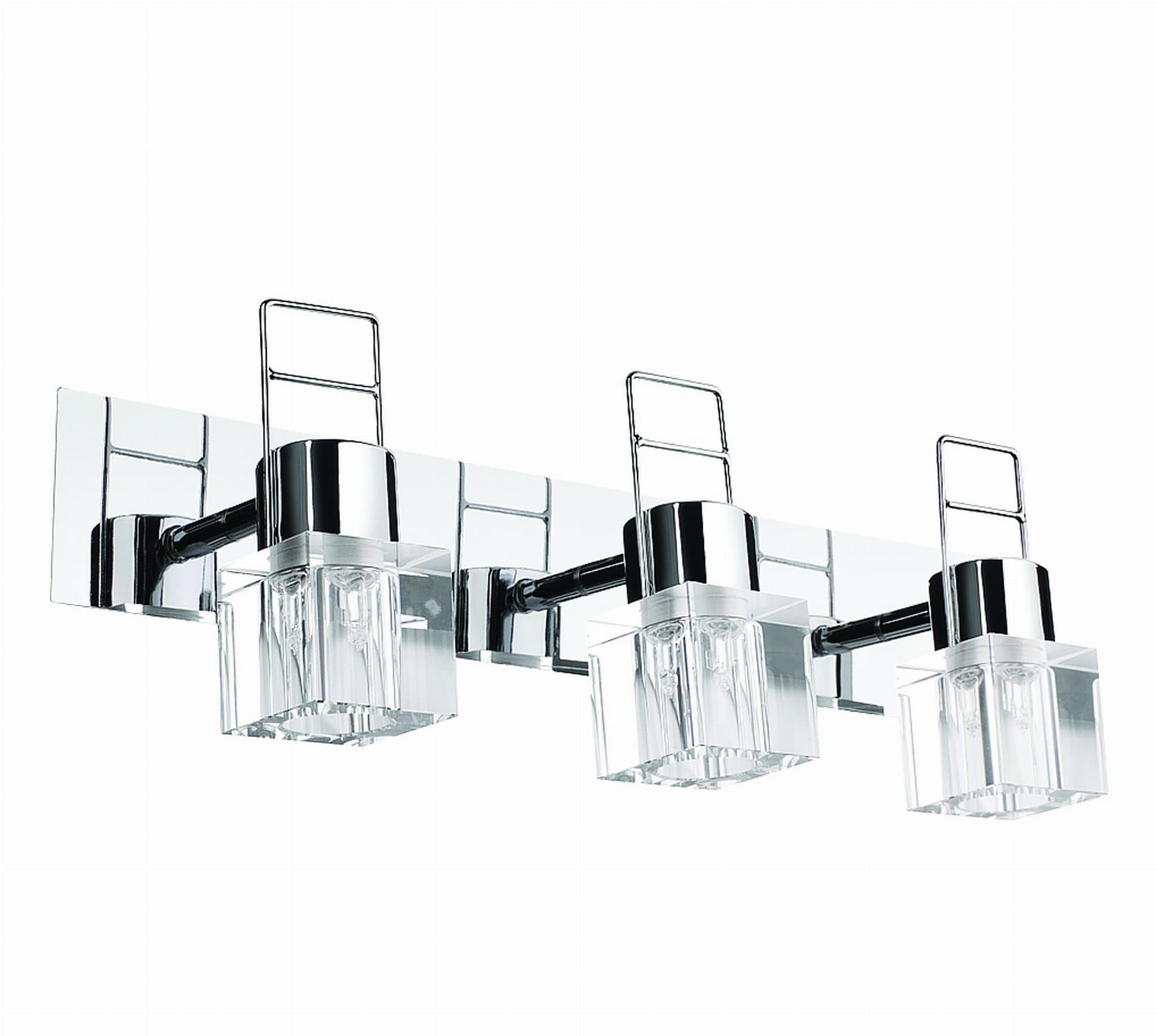 Light Prestige Londyn 3 spot LP-503/3W kinkiet lampa ścienna nowoczesny stylowy klosz kryształowy transparentny chromowana podstawa 3x40W G9 47cm