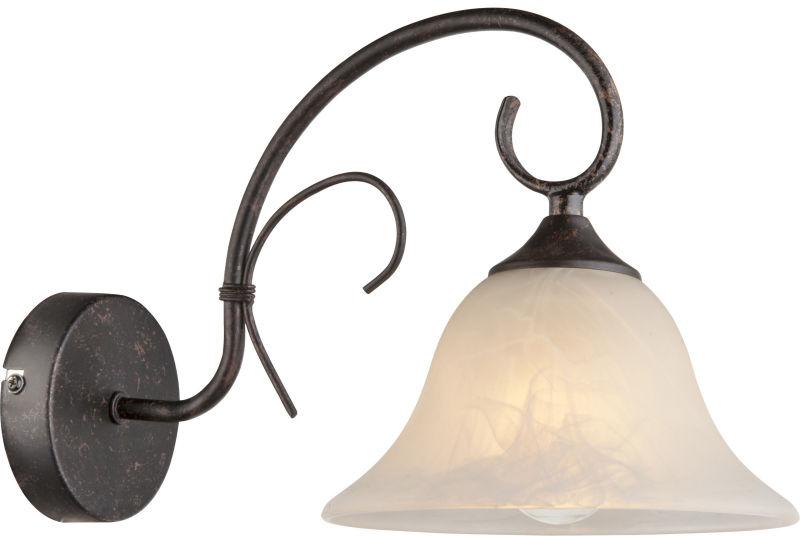 Globo ARIES 68410W kinkiet lampa ścienna rdzawy 1xE27 19 cm