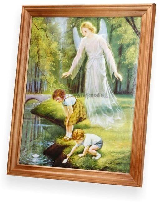 Obraz Anioł Stróż - dzieci nad wodą 27x23