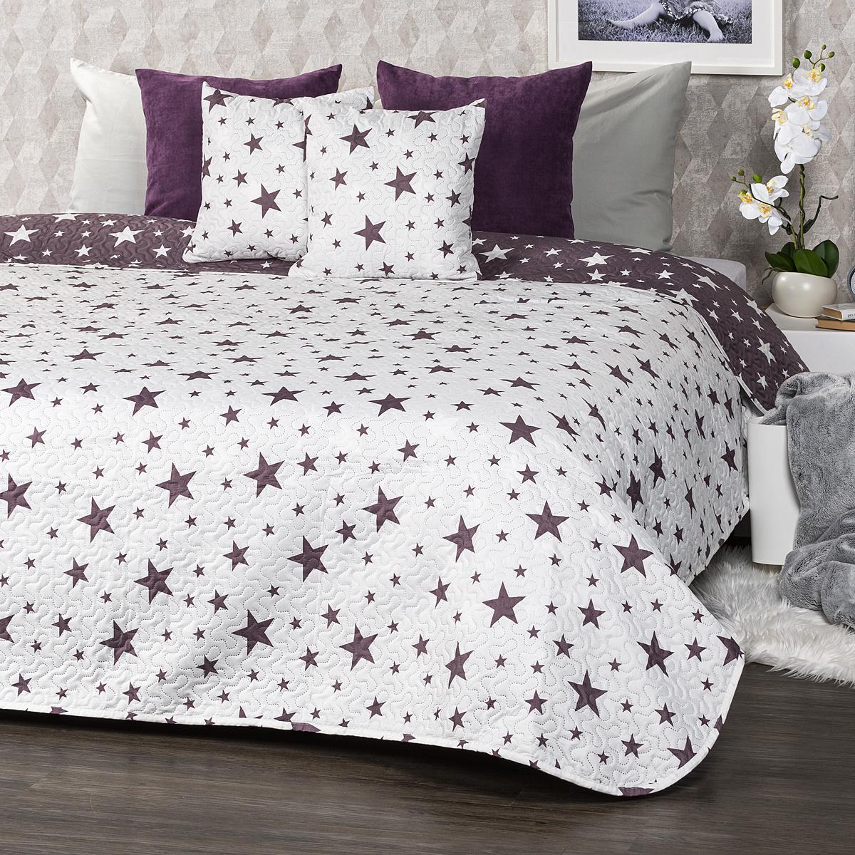 4Home Narzuta na łóżko Stars, 220 x 240 cm, 2 szt. 40 x 40 cm