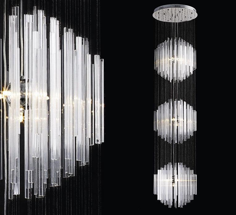 żyrandol szklany 300cm - L048