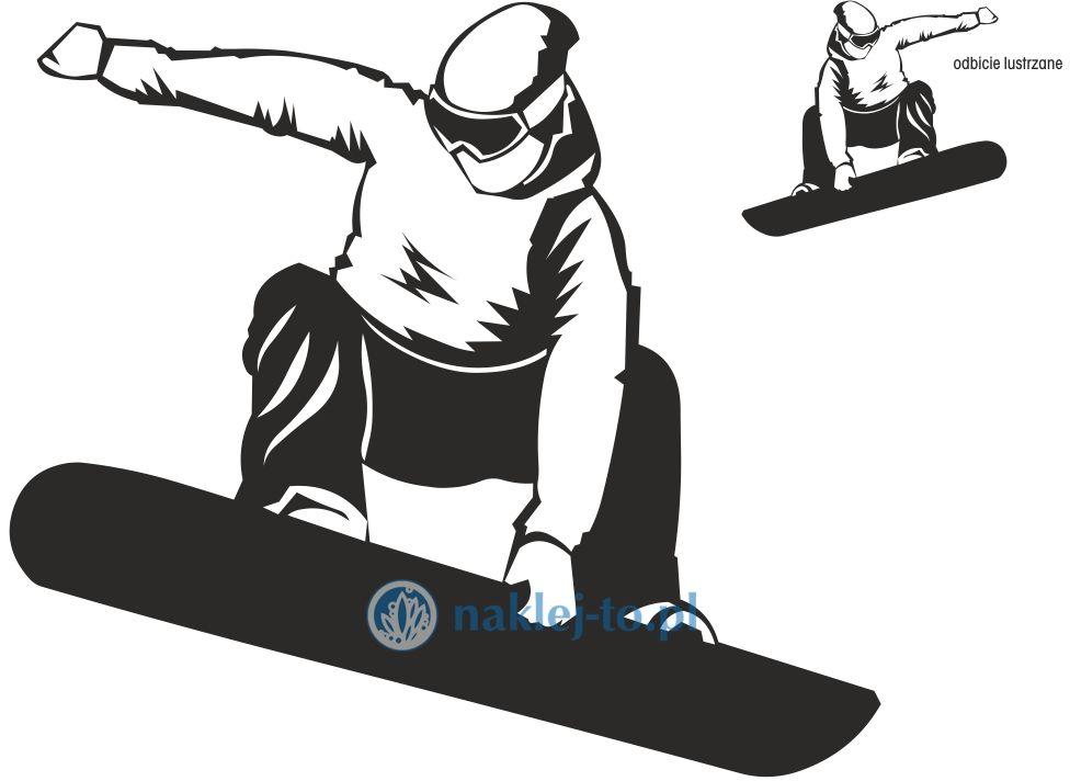 naklejka snowboard 2 naklejka na ścianę