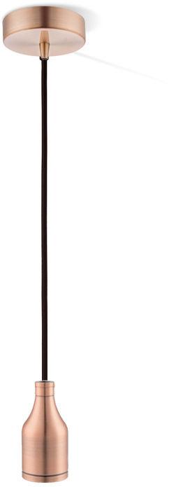 Globo OLIVER A36 lampa wisząca miedziana 1xE27 10cm