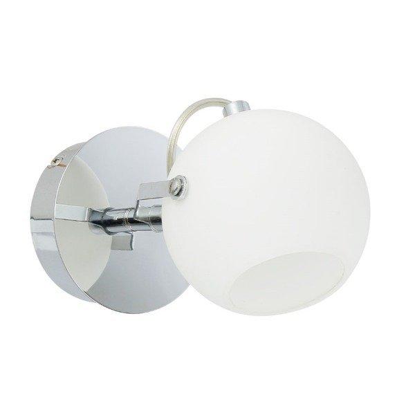 Lampa kinkiet biała kula IDA