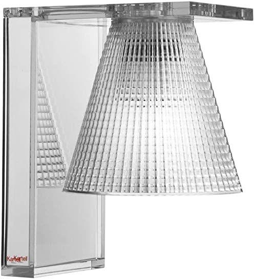 Kartell Light-Air, lampa ścienna z tłoczeniem, przezroczysta
