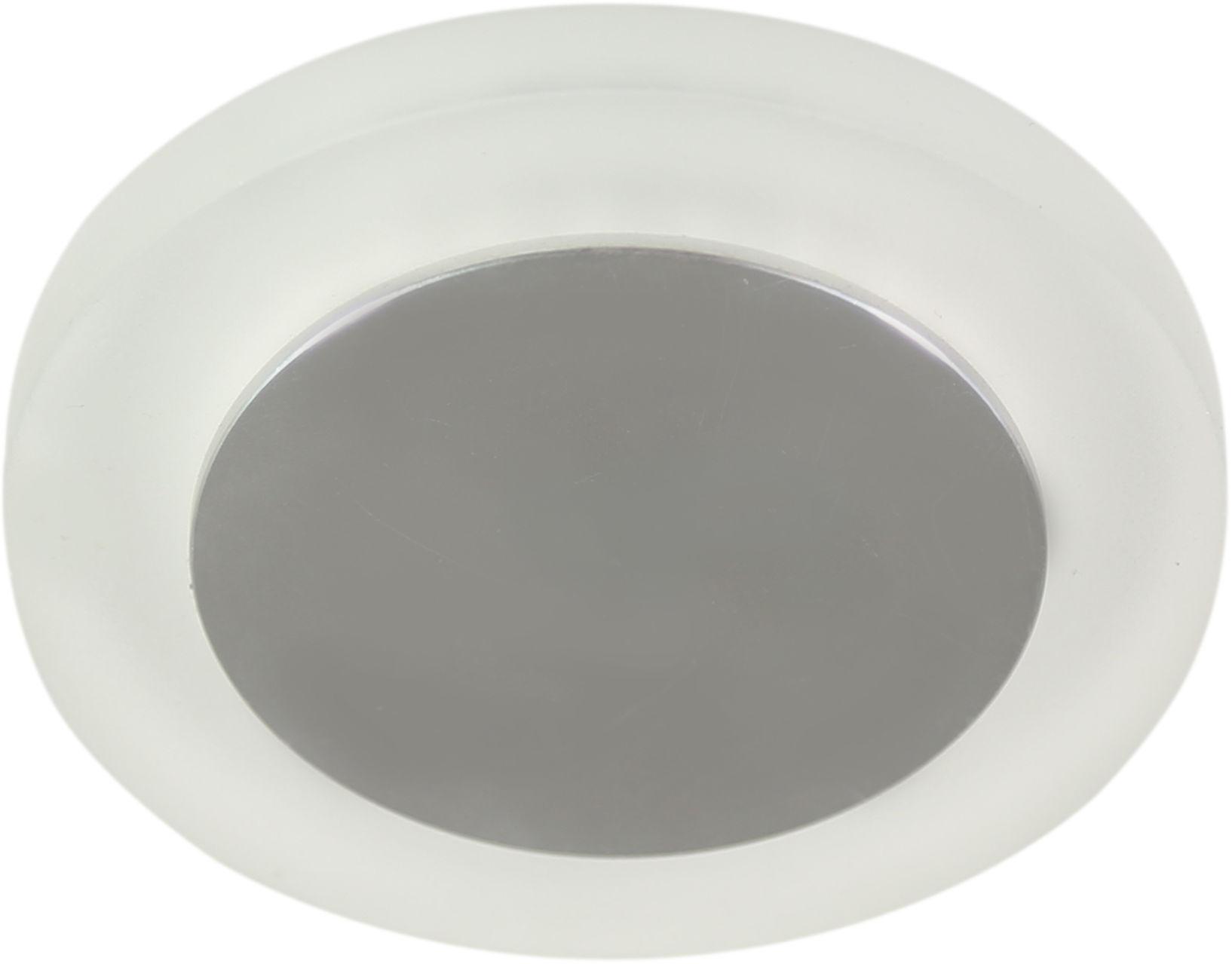 Candellux SS-30 AL/FR 1W LED 230V oprawa do wbudowania stropowa okrągła szkło mrożone 8,8cm