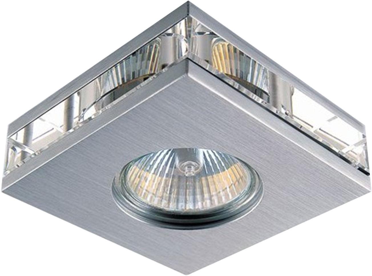 Candellux SA-06 SNS oprawa do wbudowania stropowa satyna nikiel MR16 1X50W kwadratowa 6,2cm