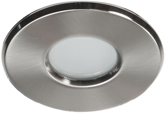 Candellux SH-04 SN oprawa do wbudowania stropowa hermetyczna łazienkowa satyna nikiel MR16 8,4cm IP65