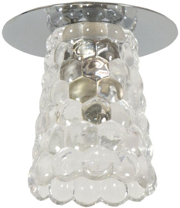 Candellux SK-75 CH/TR G9 oprawa do wbudowania stropowa chrom 1X40W G9 kryształ min 5,4cm