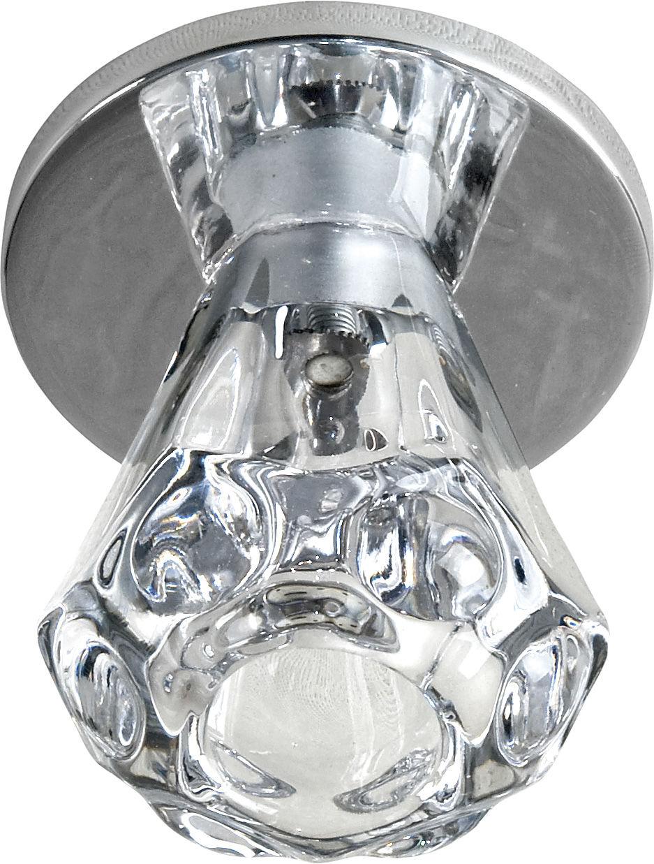 Candellux SK-32 CH G4 oprawa do wbudowania chrom kryształ lejek 20W G4 6,8cm