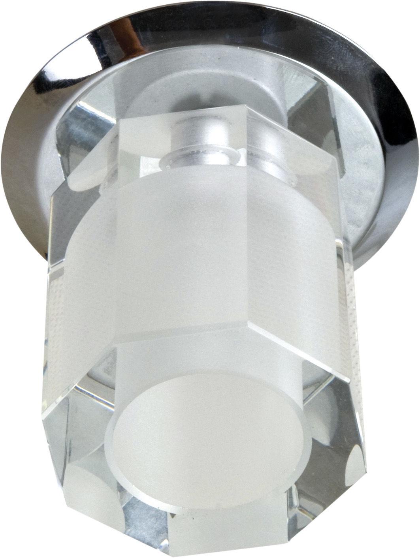 Candellux SK-25 CH G4 oprawa do wbudowania stropowa chrom kryształ 20W G4 wielokąt 8cm