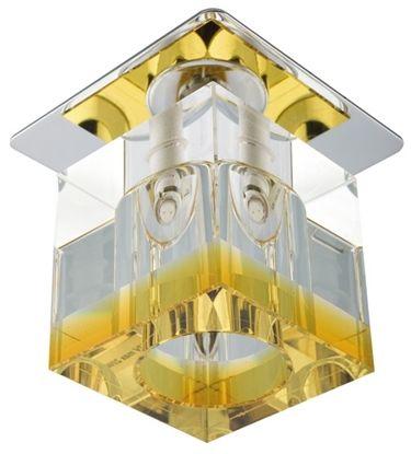 Candellux SK-19 CH/OR-P oprawa do wbudowania stropowa chrom 20W G4 kryształ pomarańczowy min 3,6cm