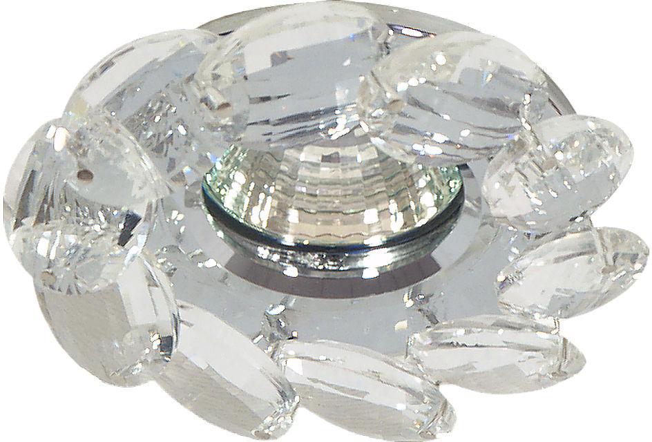 Candellux SK-77 CH/TR oprawa do wbudowania stropowa chrom MR16 1X50W dekoracyjna transparentna 10cm