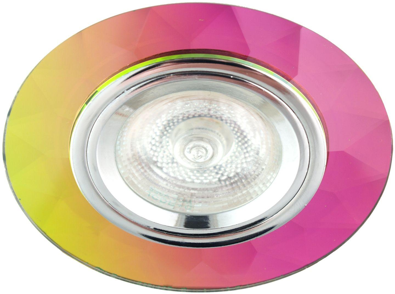 Candellux SS-1 CH/MIX oprawa do wbudowania stropowa chrom MR16 okrągła szkło mix kolor 6,4cm