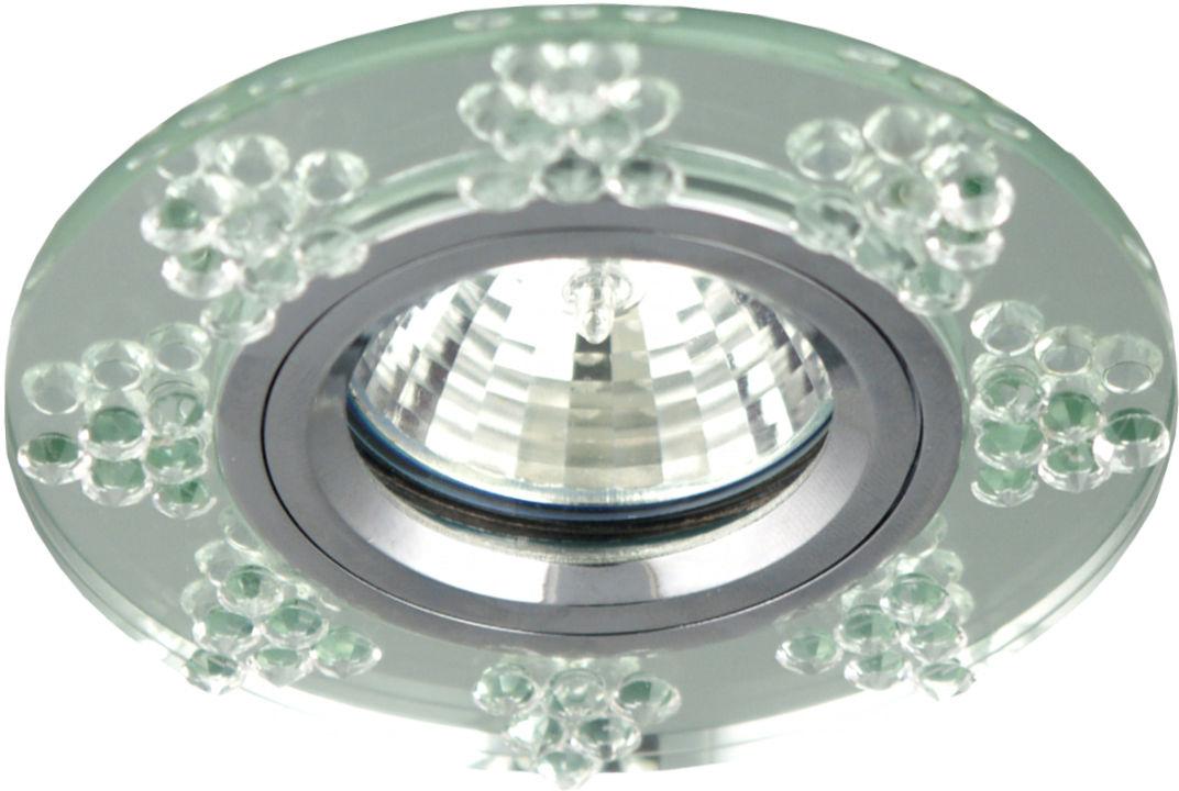 Candellux SS-19 CH/TR oprawa do wbudowania okrągła chrom MR16 szkło przeźroczyste 9,5cm