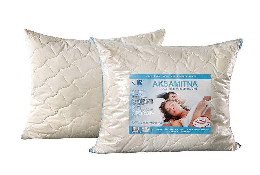 Poduszka antyalergiczna 40x40 Aksamitna ekri 100% microfibra AMW