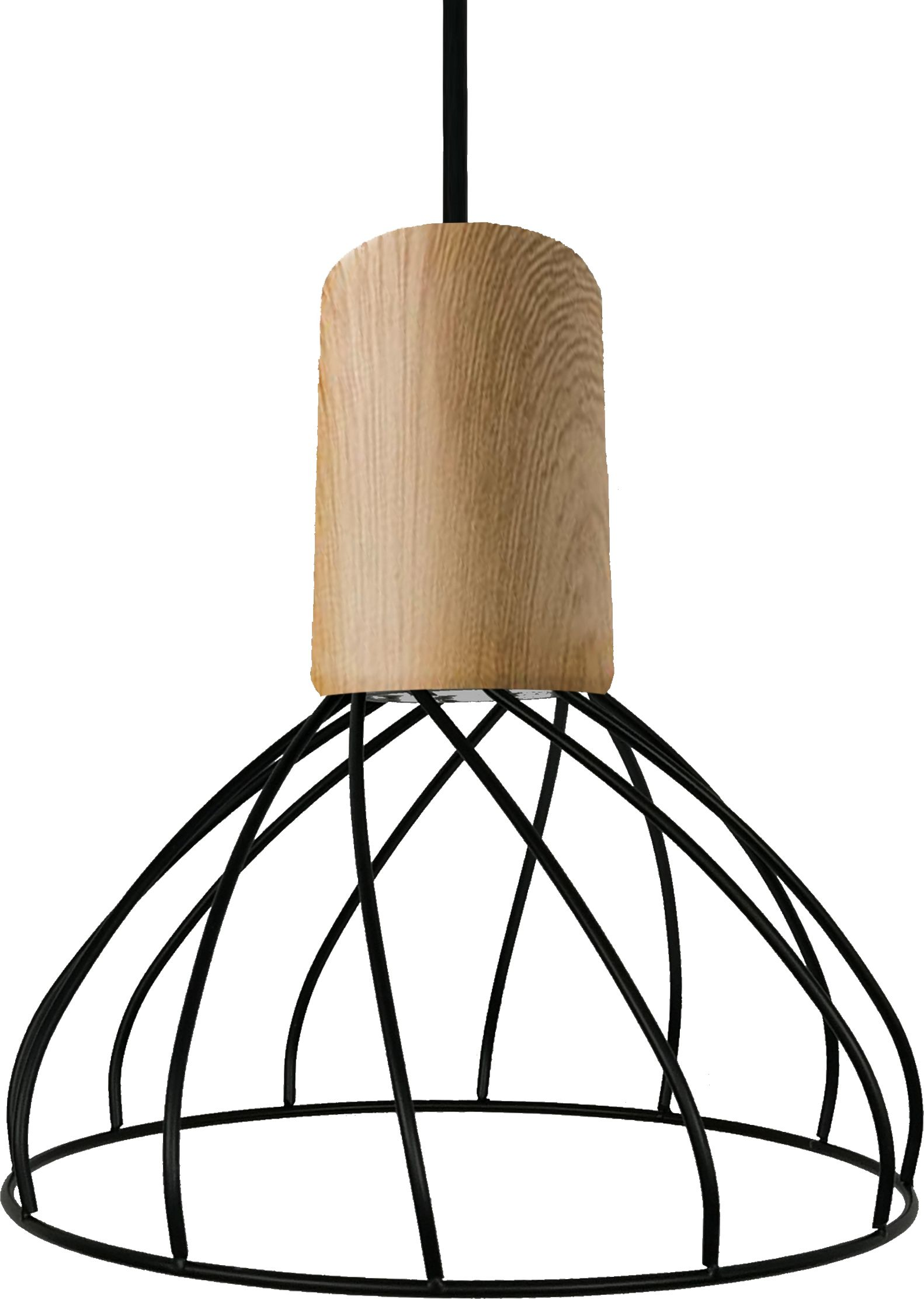 Light Prestige Moderno LP-1221/1P S BK lampa wisząca koszyk metalowy czarny 1x50W GU10 19,5cm