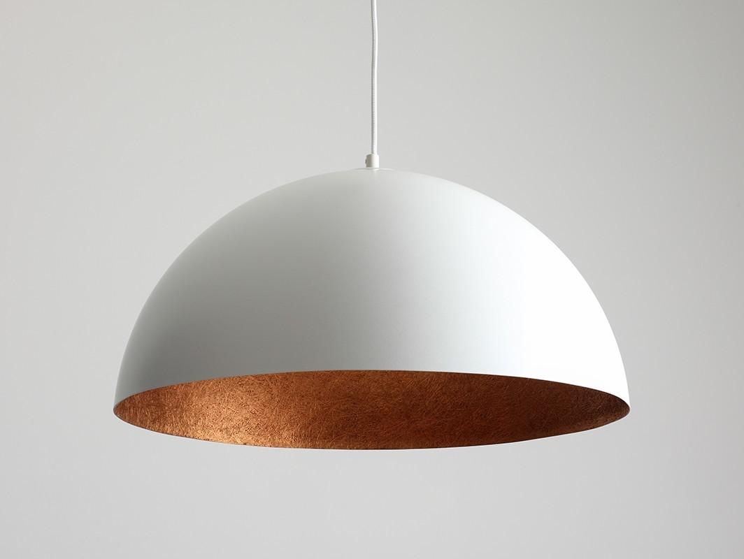 Lampa wisząca LORD 50 - miedziano-biały - Customform