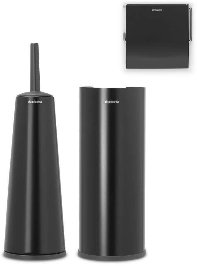 Brabantia - zestaw łazienkowy renew collection - czarny matowy