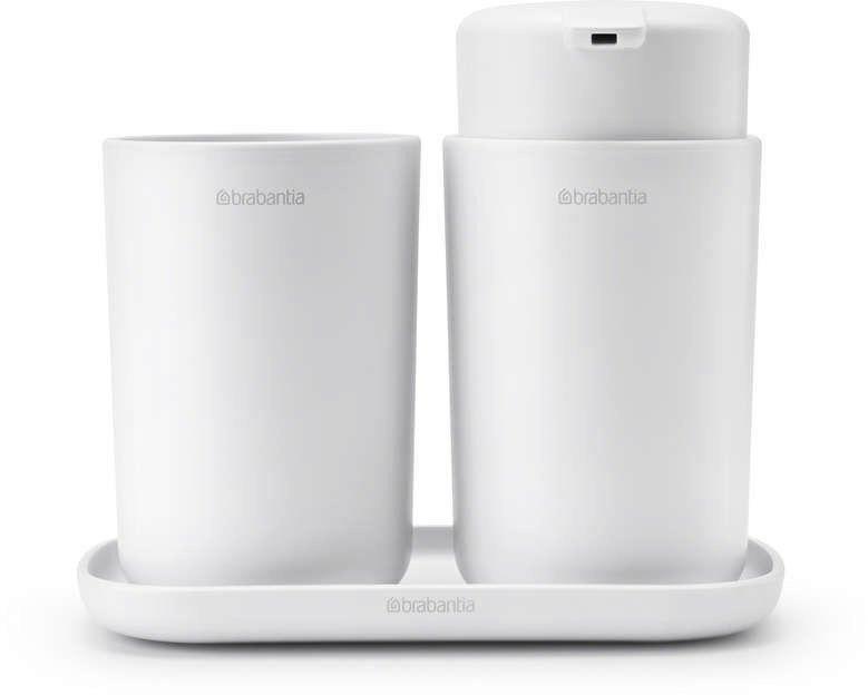 Brabantia - zestaw akcesoriów łazienkowych - biały